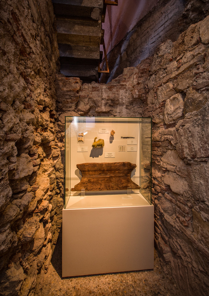 Among Other Exhibits Visitors Can See An Original Fragment From A Medieval Toilet Seat Designed For Two People